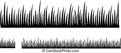 Grass silhouette vector illustration design