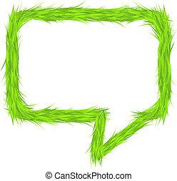 Grass Speech Bubble
