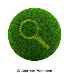 Grass Sphere Search Icon