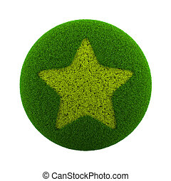 Grass Sphere Star Icon