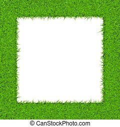Grass Square (Void) - Unfilled square border grass texture.