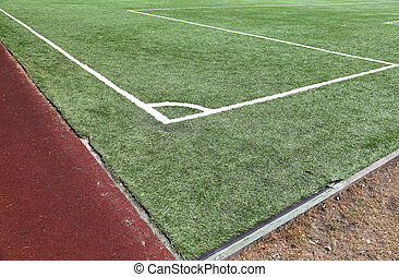 Grass turf on a sports field