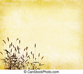 grass with set of abstract painted background