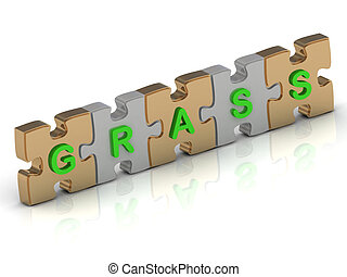 GRASS word of gold puzzle