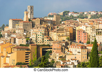 Grasse - Old town of Grasse, town in Provence famous for its...
