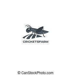 Vector grasshopper logo. Brand logo in the shape of a grasshopper