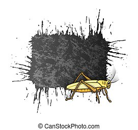 Grasshopper Grunge Banner