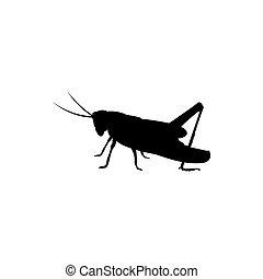 grasshopper icon vector logo
