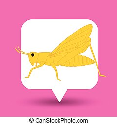 Grasshopper Insect Vector Illustration