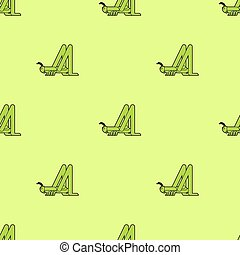Grasshopper pattern seamless. green locust background. Insect vector ornament. Baby fabric texture