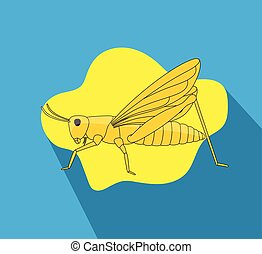 Grasshopper Vector - Grasshopper Insect Vector Illustration