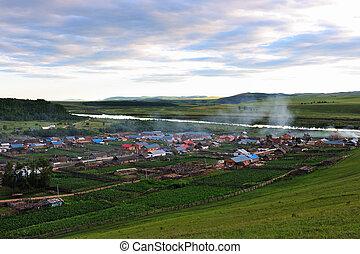 Grassland landscape - Grassland in Hulun Buir League of...