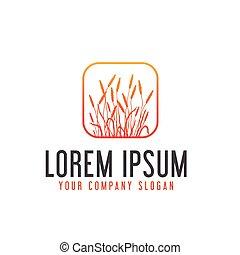 Grassland logo design concept template