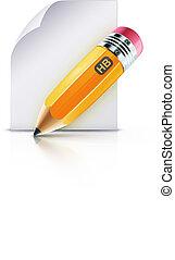 grasso, matita, giallo