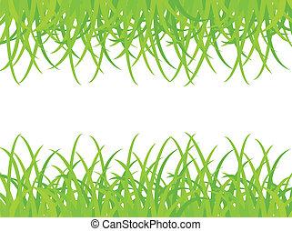 Grassy field. Vector illustration