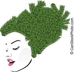 Grassy hair