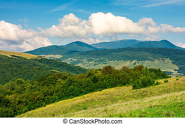 grassy hills and distant mountain peaks. lovely countryside...