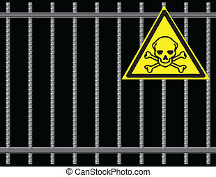 Grate toxic substances - Steel reinforcing rods of the gril,...