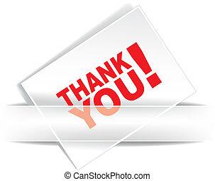 Grateful card - Thank you - grateful card. Vector...