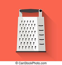 Grater icon. Flat design. Vector illustration.