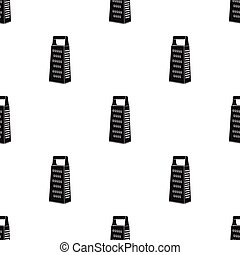 Grater icon in black style isolated on white background. Kitchen pattern stock vector illustration.