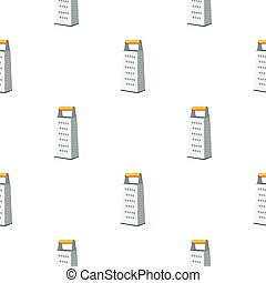 Grater icon in flat style isolated on white background. Kitchen pattern stock vector illustration.