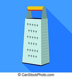 Grater icon in flate style isolated on white background. Kitchen symbol stock vector illustration.