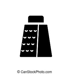 grater icon, vector illustration, black sign on isolated background