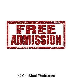 gratis, admission-stamp