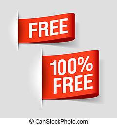 gratis, etiketter
