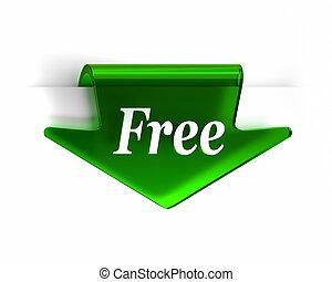 gratis, grön