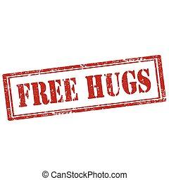 gratis, hugs-stamp