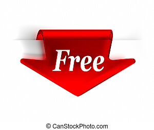 gratis, röd pil