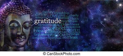 Gratitude Buddha Banner