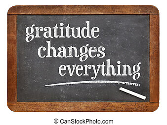 Gratitude changes everything - inspirational text on a...