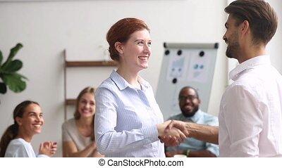 gratitude, exprimer, réussi, patron, appréciation, employé...