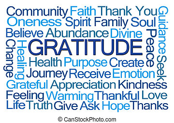 gratitude, mot, nuage