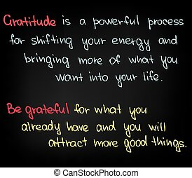 Gratitude - Motivational words for getting success