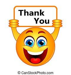 gratitude, remercier, signe, note, remerciement, exprimer, vous