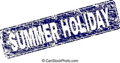 gratté, été, arrondi, timbre, encadré, vacances, rectangle