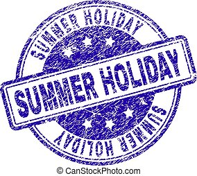 gratté, été, timbre, cachet, textured, vacances