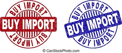 gratté, achat, grunge, timbres, importation, rond