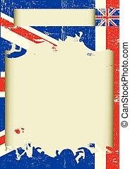 gratté, affiche, royaume-uni