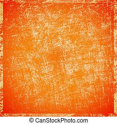 gratté, arrière-plan orange