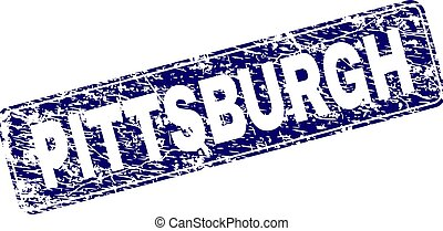 gratté, arrondi, pittsburgh, encadré, timbre, rectangle
