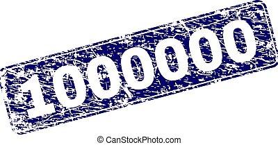 gratté, arrondi, timbre, 1000000, encadré, rectangle