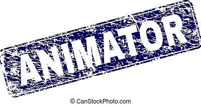 gratté, arrondi, timbre, encadré, rectangle, animator