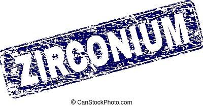 gratté, arrondi, timbre, zirconium, encadré, rectangle