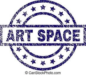 gratté, art, espace, timbre, cachet, textured
