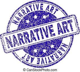 gratté, art, timbre, textured, narrative, cachet